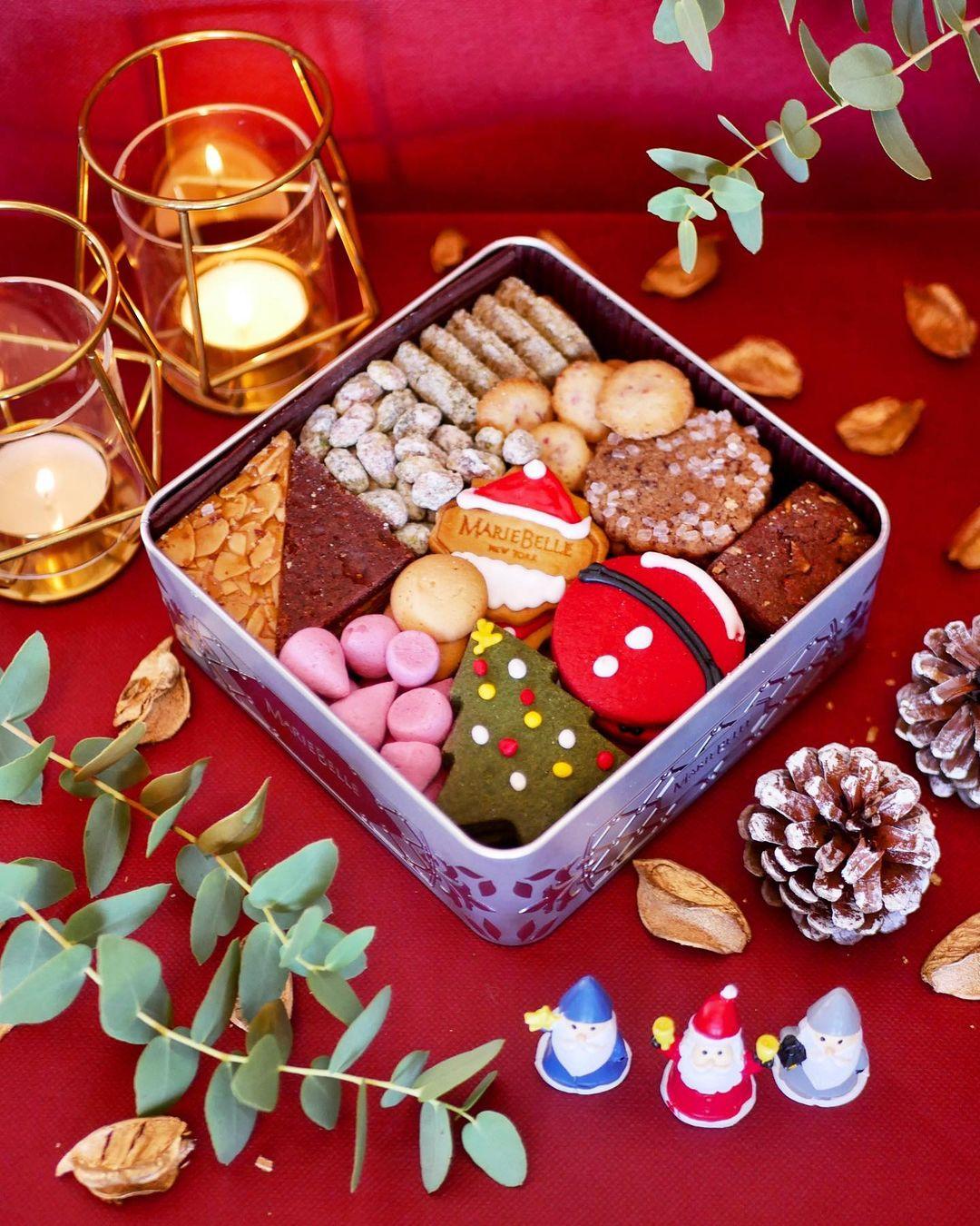 マリベル京都本店のクリスマスクッキー缶「2020年Holiday ワンダートレジャー」