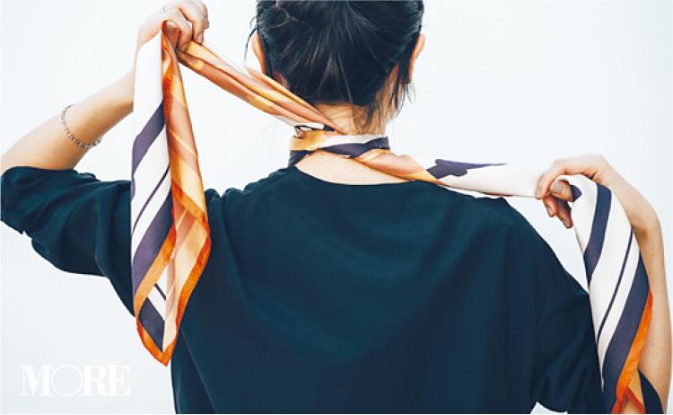 スカーフで意外と簡単にできるんです。恋に落ちそな後ろ姿❤︎ 冬コーデの華やかさも3割増! 記事Photo Gallery_1_4