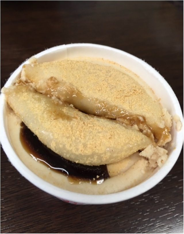 この冬ヒット間違いなし。ゼッタイみんな大好きな信玄餅アイス発見!黒蜜×きなこ×もちの最強アイス❤️_10