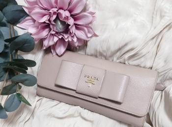 【20代女子の愛用財布】わたしは王道の《 PRADA 》の長財布!!❤︎❤︎