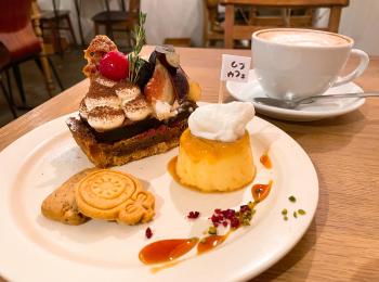 【カフェ活】秋の味覚 無花果と巨峰の《ティラミスのタルト》が味わえる隠れ家カフェ
