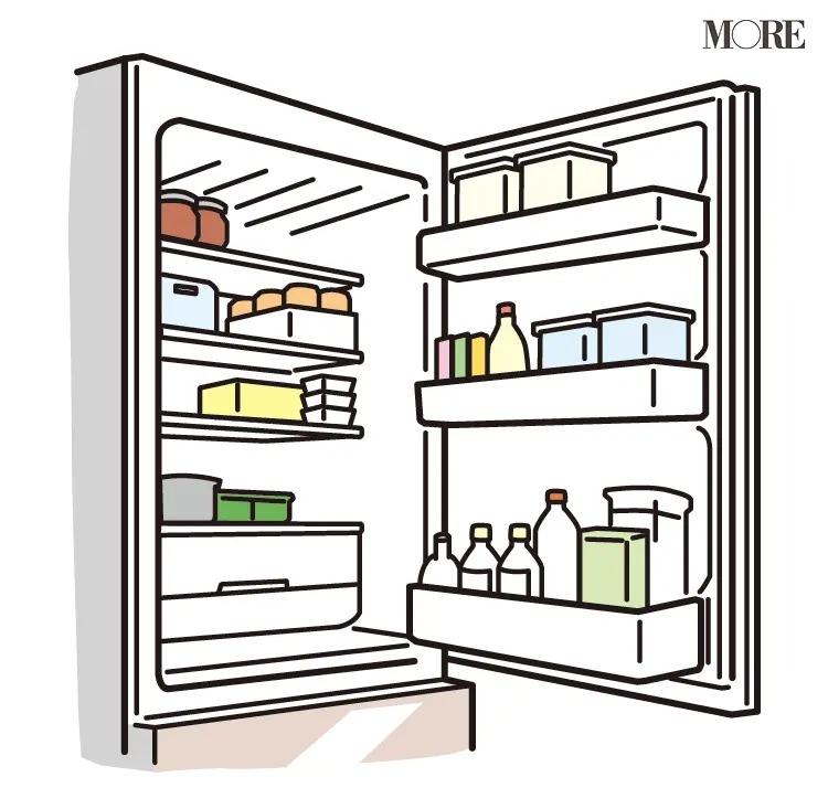 風水の開運掃除法で整理整頓された冷蔵庫の中身
