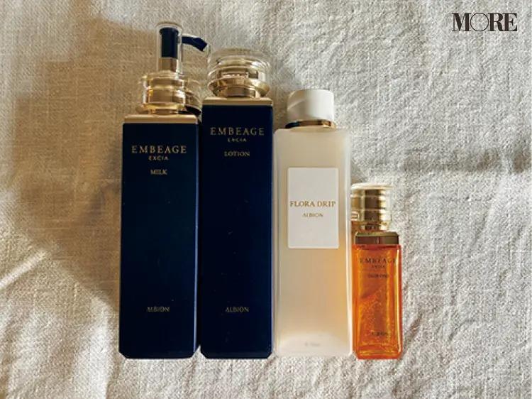 飯豊まりえ愛用のアルビオンの化粧水と乳液と美容液