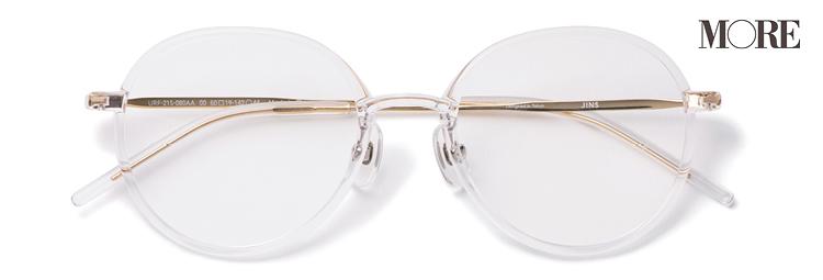 JINSのクリアフレームのメガネ