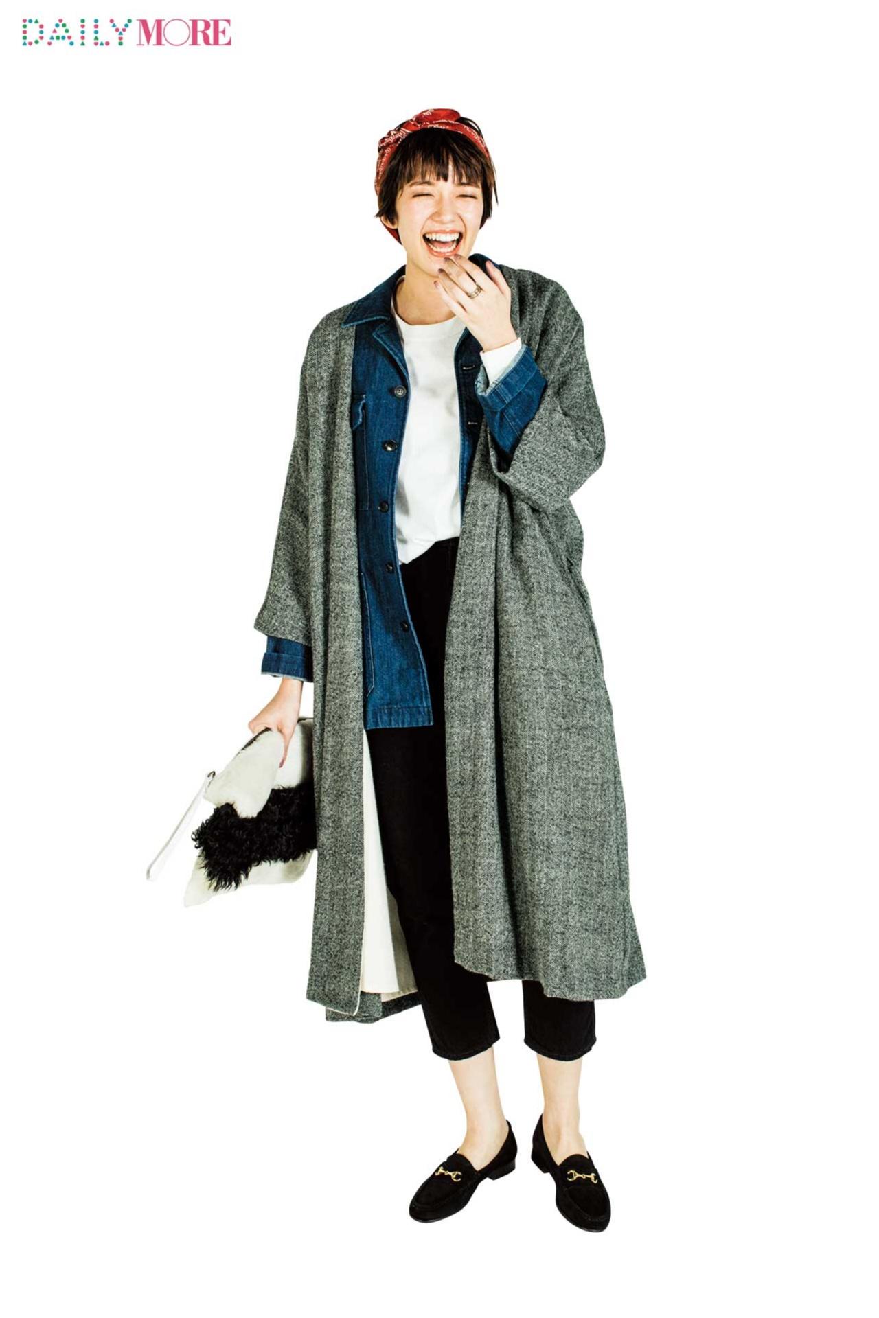 【今日のコーデ/佐藤栞里】カジュアル気分の日曜日はコート×ジャケットで鮮度を上げる!_1