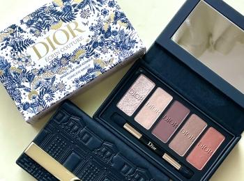 【クリスマスコフレ】『Dior(ディオール)』限定アイシャドウパレットがオシャレ☆ コスメマニア美容家・立花ゆうりがスウォッチ&3パターンアイメイク!