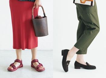 ぺたんこ靴、夏の陣!「ヘルシー見えスポサン」と「きちんと見えローファー」どちらがお好き?