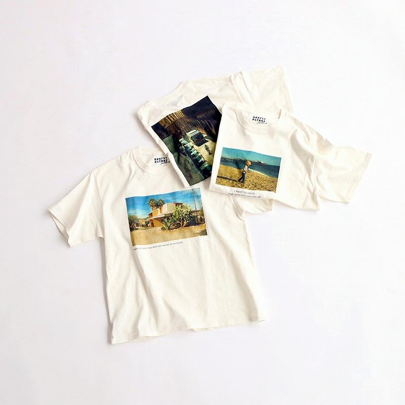 """『KIOSK """"BREAKFAST RESTRANT""""』で販売するTシャツの画像"""