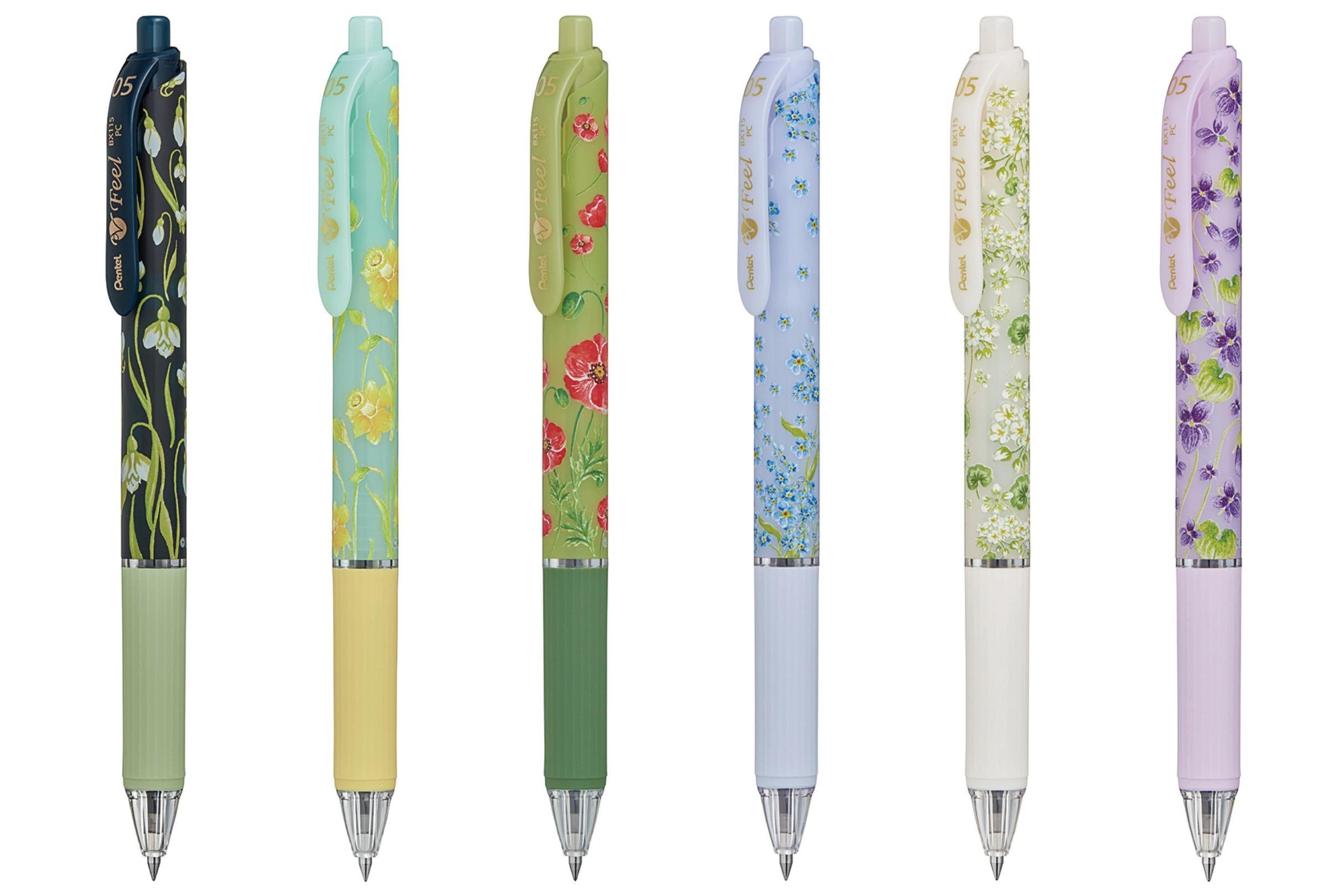 日比谷花壇とぺんてるのコラボボールペン