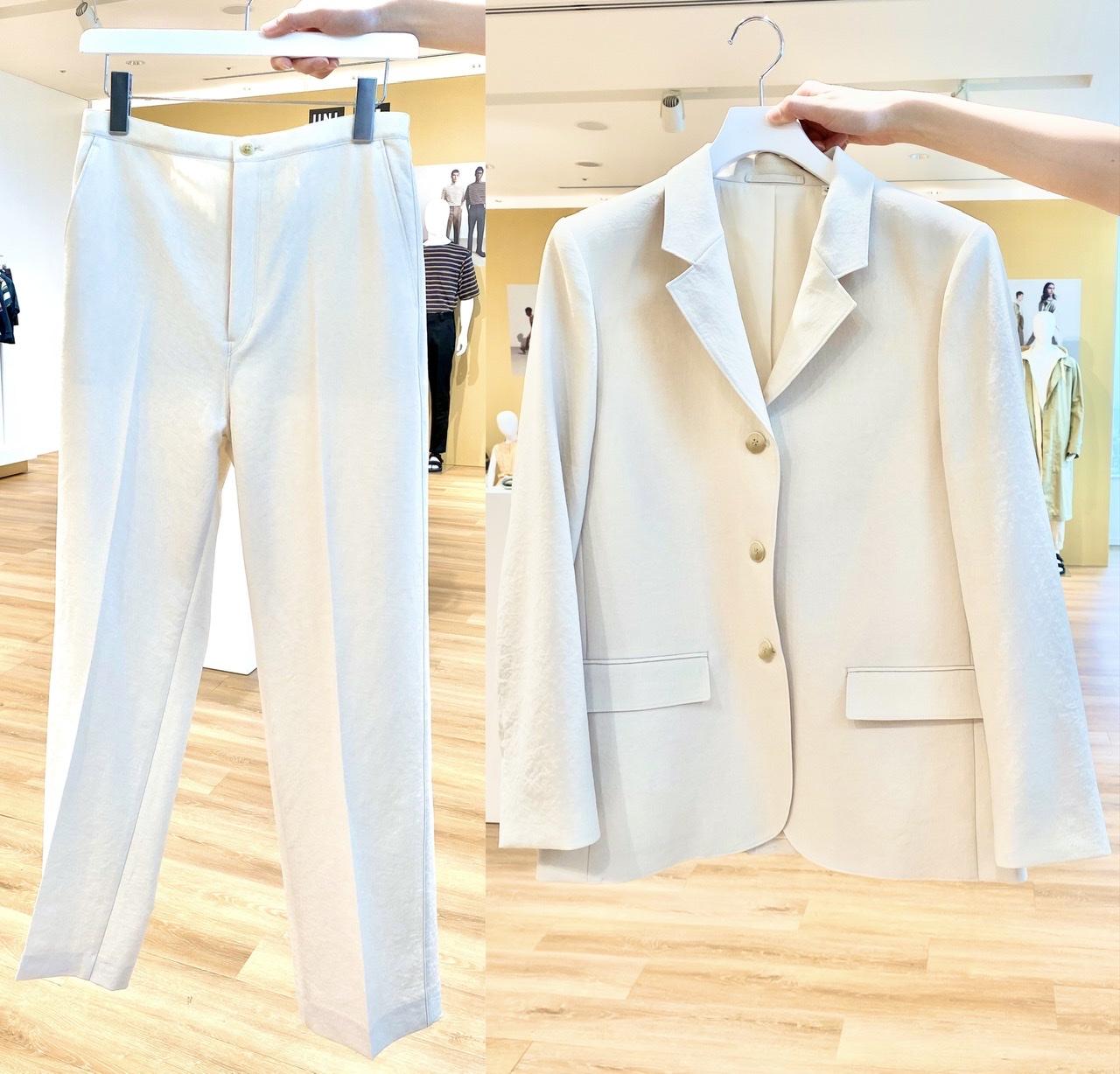 ユニクロユーのセットアップ可能なジャケットとパンツ