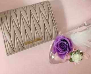 【20代女子の愛用財布】miu miuのミニ財布♡♡_1