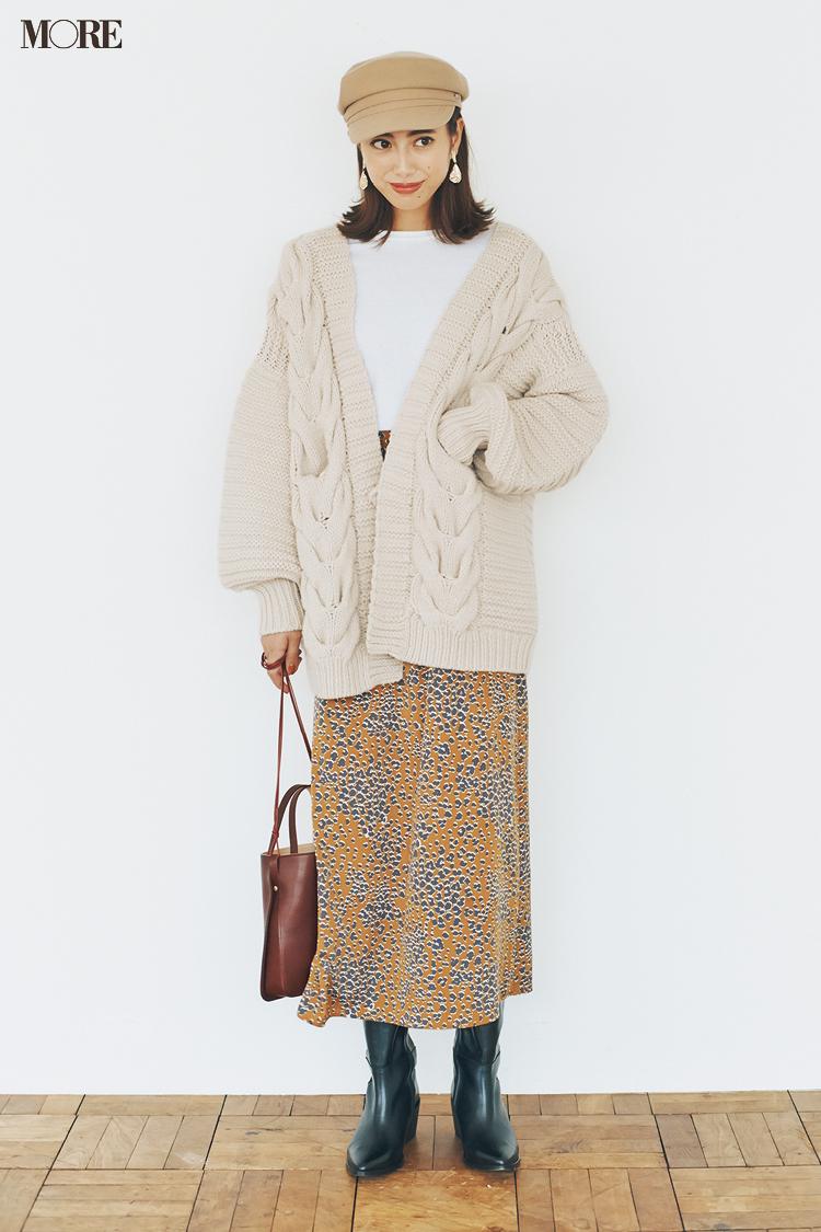 【今日のコーデ】<土屋巴瑞季>残業なしの水曜はトレンド感満点のアニマル柄スカートでアフター6を大満喫♪_1
