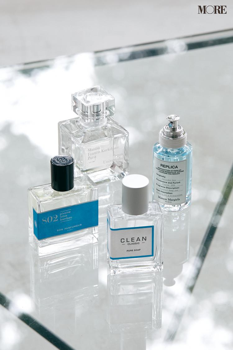 メゾンマルジェラとクリーンとメゾンフランシスクルジャンとボンパフューマーの香水