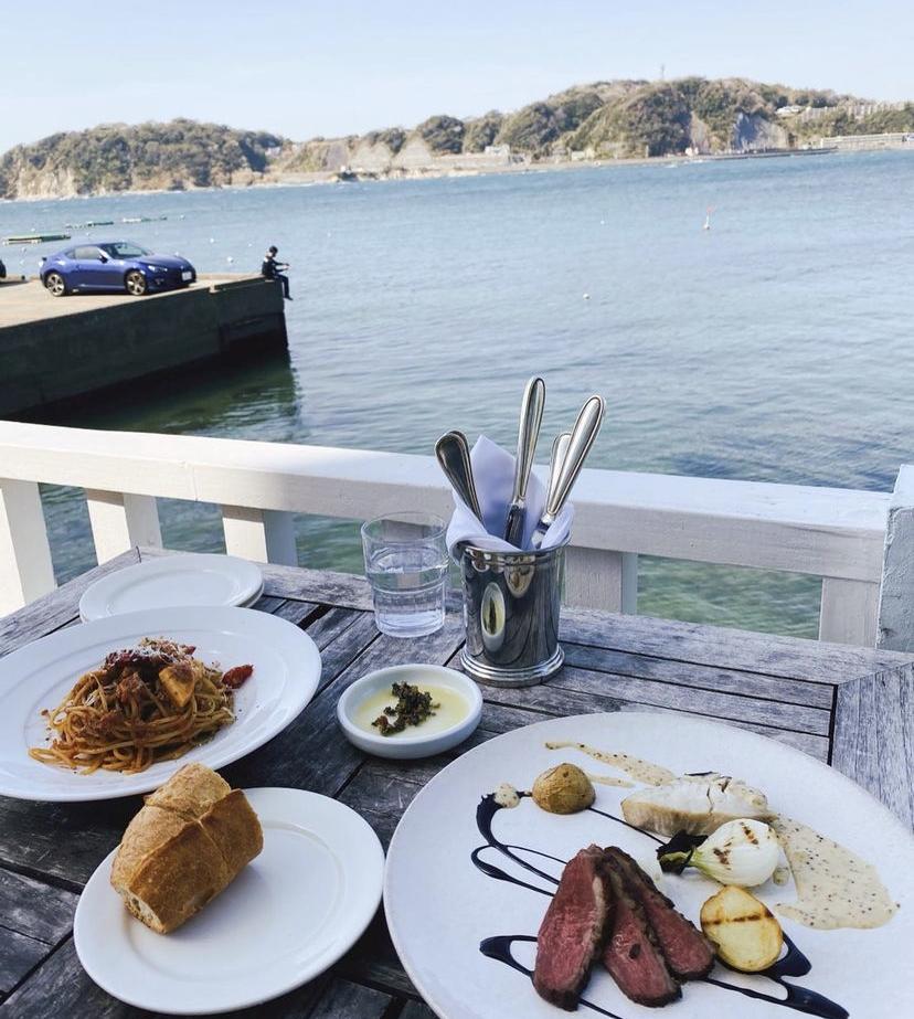 海沿いカフェ テラスカフェ フレンチ 海沿いテラス