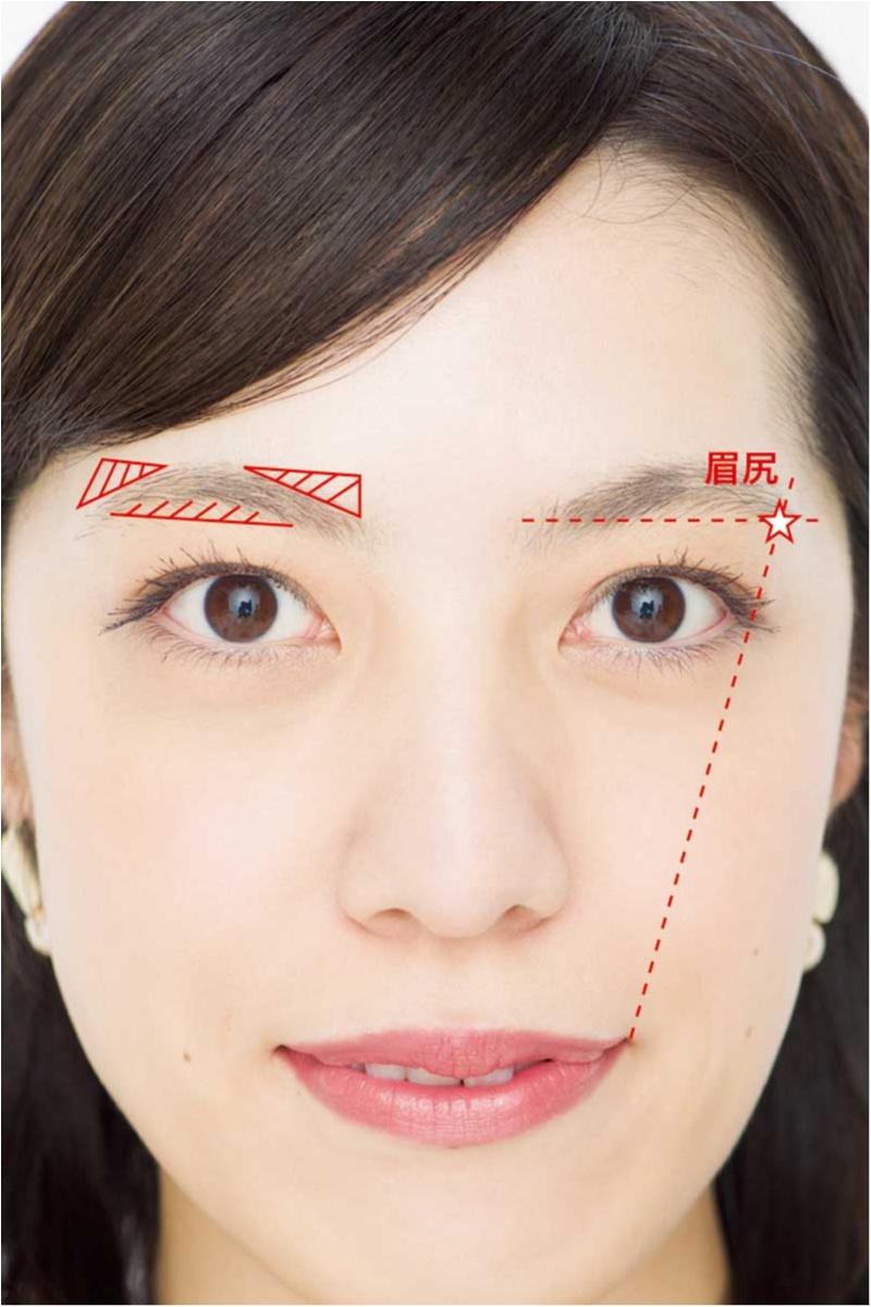 面長さんも遠心顔さんも、眉を変えるだけでOK!! お悩み解消「劇的小顔」テクニック♡_3_1