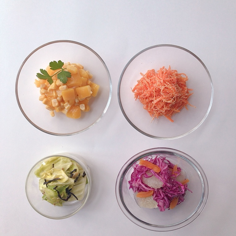 時短&カラフルな野菜おかずの作りおきレシピ。お弁当用にもリモートワーク用にも! 初心者さんでもいっきに4品できる!! 【作り置き副菜その1】_1