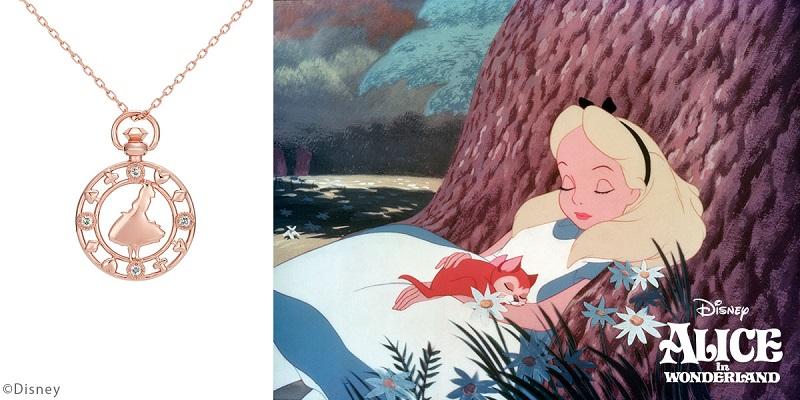 ディズニー、アリスをモチーフにしたネックレス