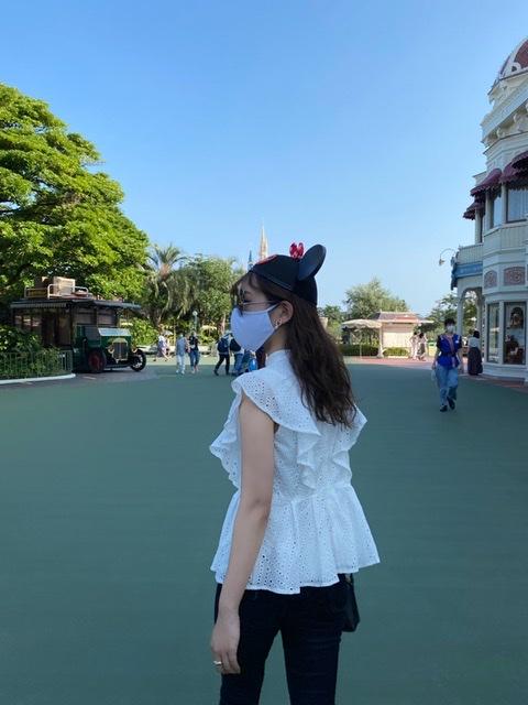 夢の国。「ディズニーランド」へ行って参りました。Disneyコーデ。今の混雑状況は?感染対策は?_2
