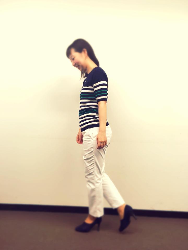 【着痩せ◎】会社の日もオフの日も大人かわいい半袖ボーダーを着回し♡_5