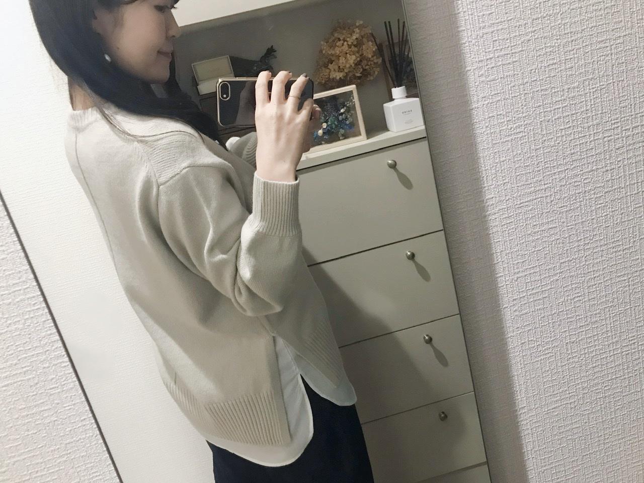 【GU】今から春までそれぞれ使える!レイヤードシャツ風タンク&ニット♡_5