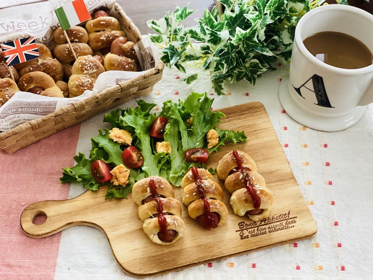 【おうちカフェ】超簡単なのに絶品★ホットケーキミックスでつくる人気レシピを実践♡-ウインナーロール-_6