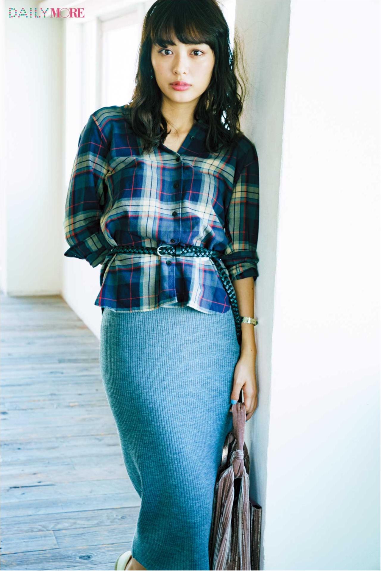 【2017年秋のおすすめ『ユニクロ』コーデ3】 チェック柄のネルシャツで女っぷりが高まるプチプラコーデ