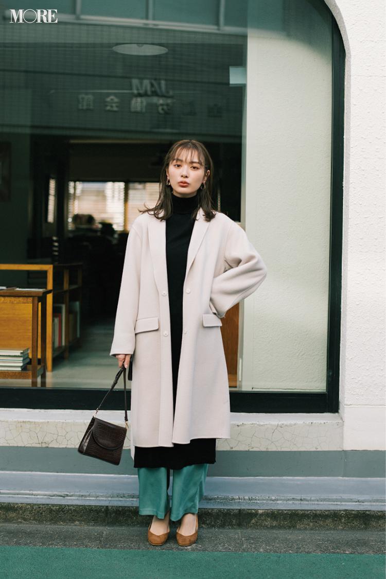 【今日のコーデ】<内田理央>寒くてもおしゃれを更新!冬のレイヤードコーデからきれい色パンツをのぞかせて_1