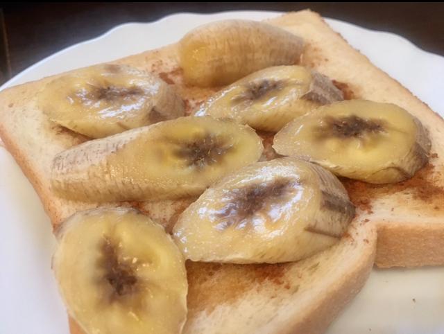 明日つくれる!簡単おいしい。バナナハニーバターシナモントースト♡_4