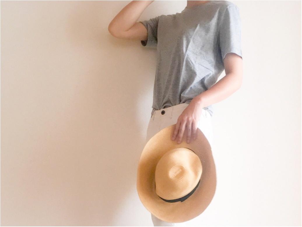 【GU/サマーコーデ】390円+tax!思わず色違いでGET! この夏ツカえる! GUのクルーネックTシャツ♫_3