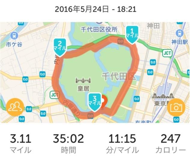 1周5キロの皇居でラン。_3