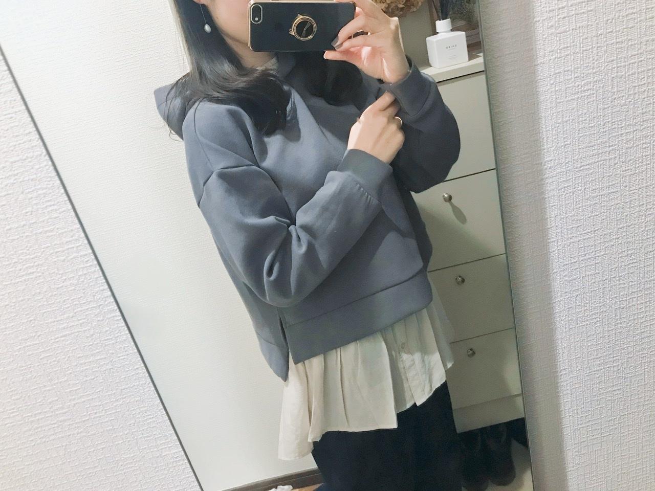 【GU】今だけ1490円!春まで使える♡優秀パーカーをイロチ買い♩_3