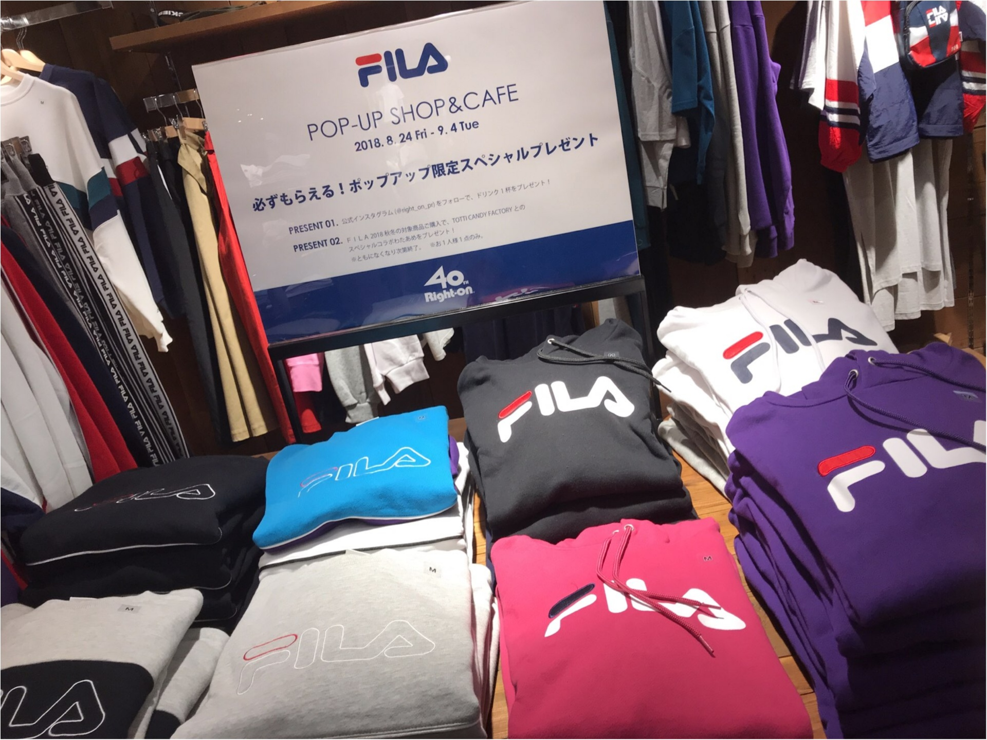 【FILA(フィラ)】がRight-onをジャック!?POP-UPSHOP&CAFEがオープン★_2