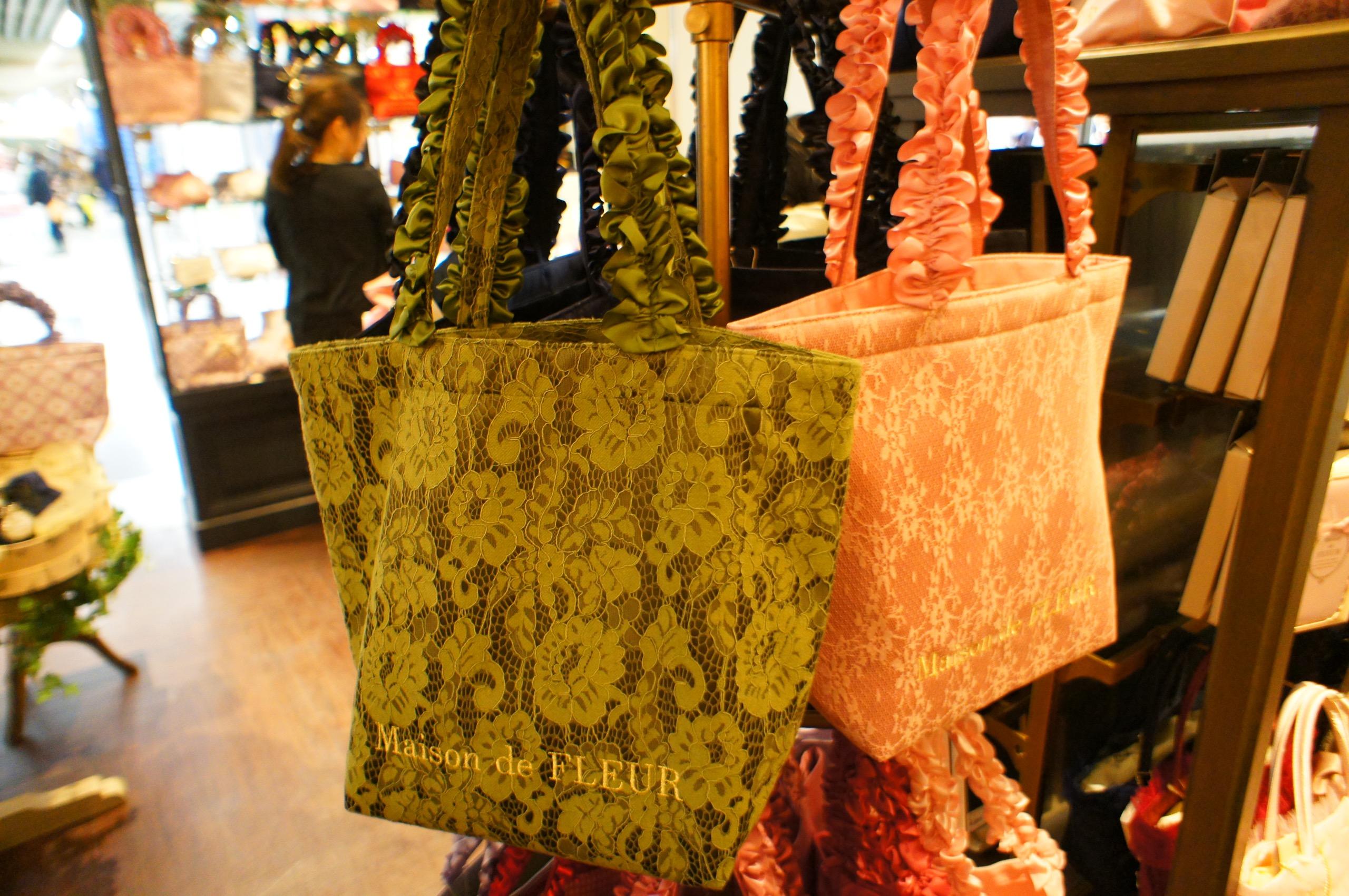 《京都ポルタ限定カラー❤️》【Maison de FLEUR】宇治色フリルハンドルトートバッグがかわいすぎる!_3