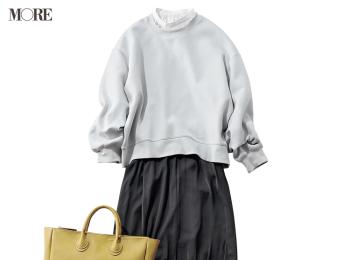 『GU』の3990円以下スウェット&スカートで可愛げコーデ! 企画を思いついた着回し17日目