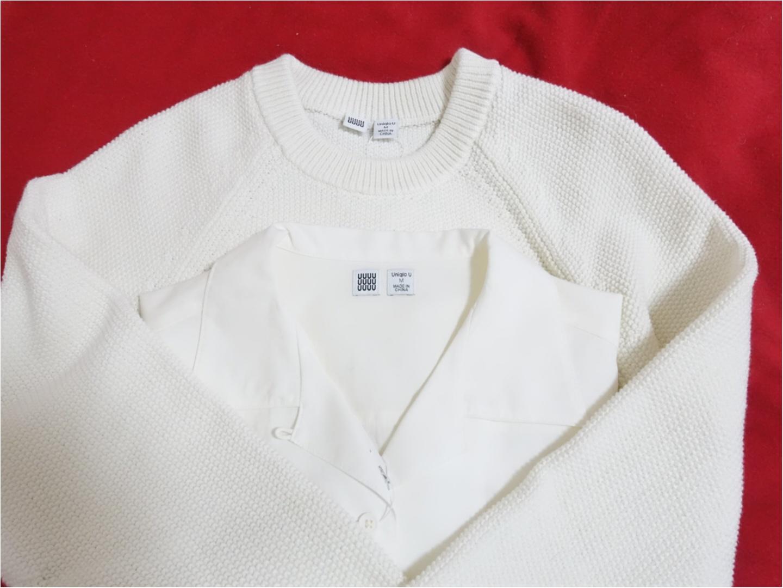 【Uniqlo U】から目が離せない!発売日に購入できた《今から使える白アイテム》が、最強に可愛いのです!_1