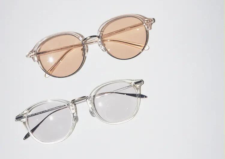 JINSとZoffのカラーレンズのおしゃれメガネ