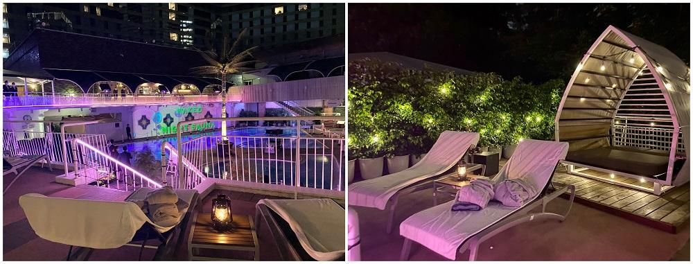 「NAKED NIGHT SAUNA HOTEL NEW OTANI -CITY RETREAT-」。オプション「ワレア」の様子