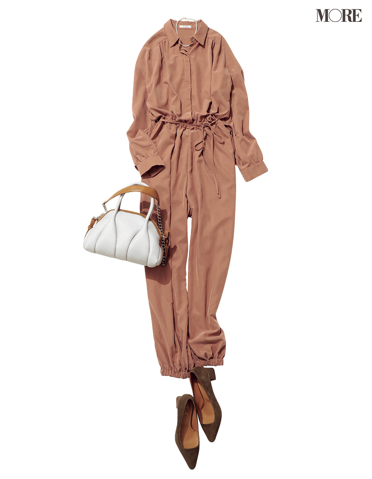通勤服の新顔候補・オールインワンを楽&キレイに着こなしたいから♡かっちり見せる靴とバッグとの合わせ方_2
