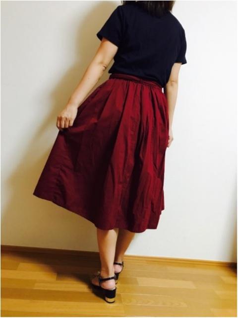 【GU】にて秋アイテム購入★《ウエストリボンフレアスカート》_4