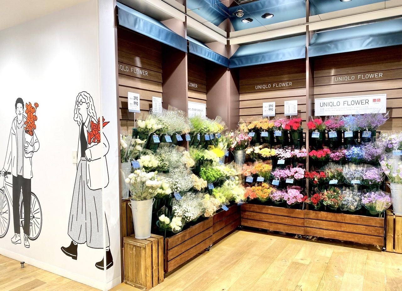 ユニクロ銀座店のUNIQLO FLOWER