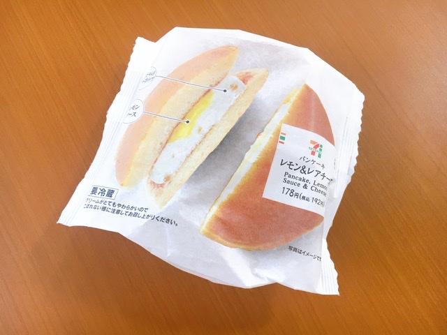 【セブンスイーツ】夏っぽ爽やかスイーツ《パンケーキレモン&レアチーズ》_1