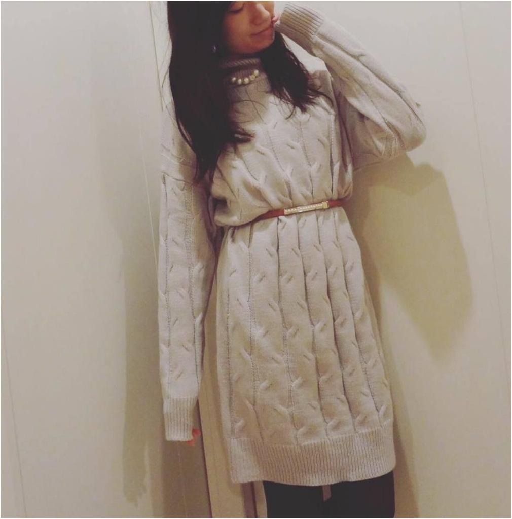 """""""ケーブル編み×ハイネック""""が可愛い♡ニットワンピースをSALE価格¥1,662でGET✨≪samenyan≫_1"""
