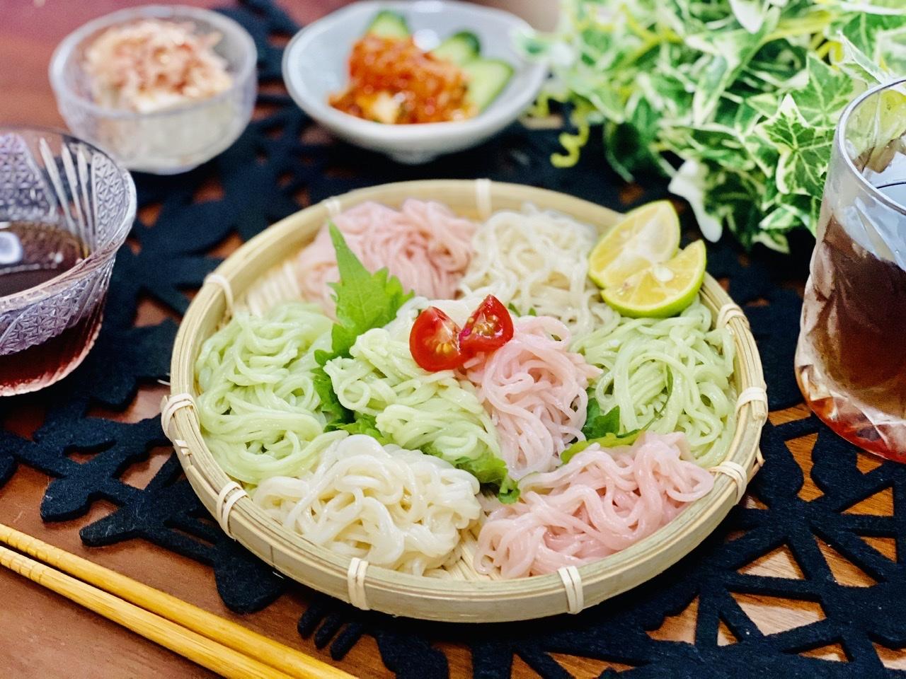 【おうちごはん】いつもの素麺に飽きたときはコレ!《カラフル素麺》で食卓がパッと華やかに♡_4