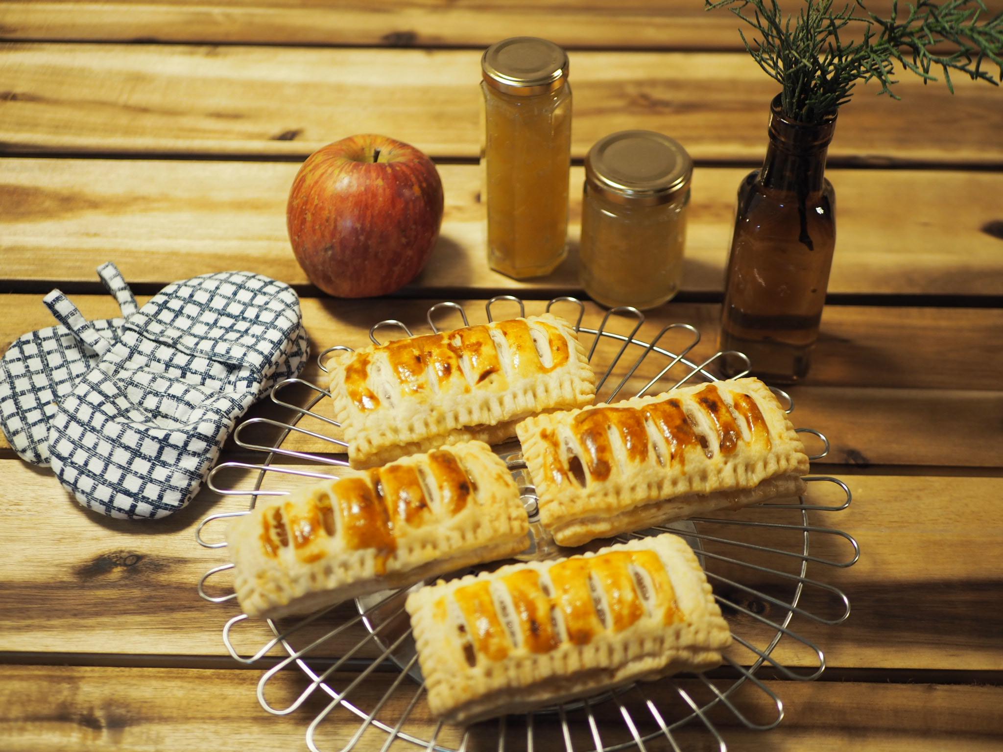 【りんご】おうち時間で簡単りんごジャムとアップルカスタードパイ作り♩_8