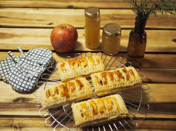 【りんご】おうち時間で簡単りんごジャムとアップルカスタードパイ作り♩
