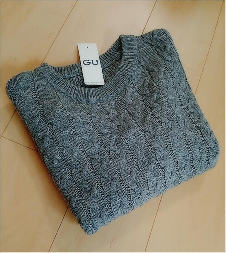 可愛くて使える!!【GU】2016冬*990円ニット!(443 まゆ_1