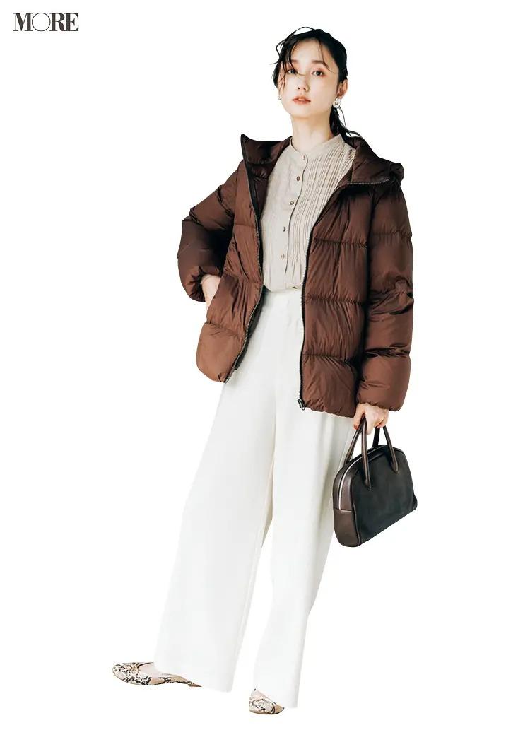 2021最新おすすめアウターの『ユニクロ』のダウンジャケットを着た全身コーデ