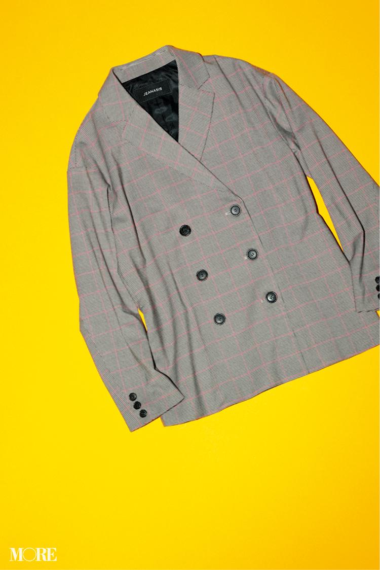 チェックのジャケット
