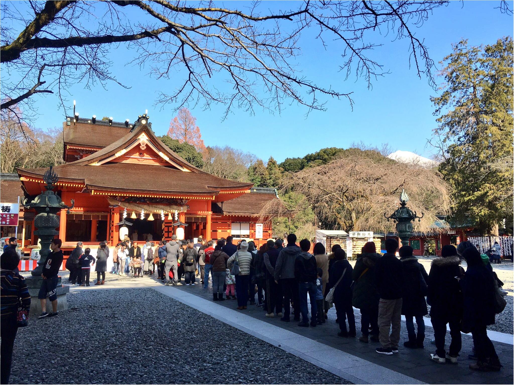 境内から富士山が見える♡全国1,300社ある浅間神社の総本社【富士山本宮浅間大社】に初詣に行ってきました(*´ ˘ `*)_2