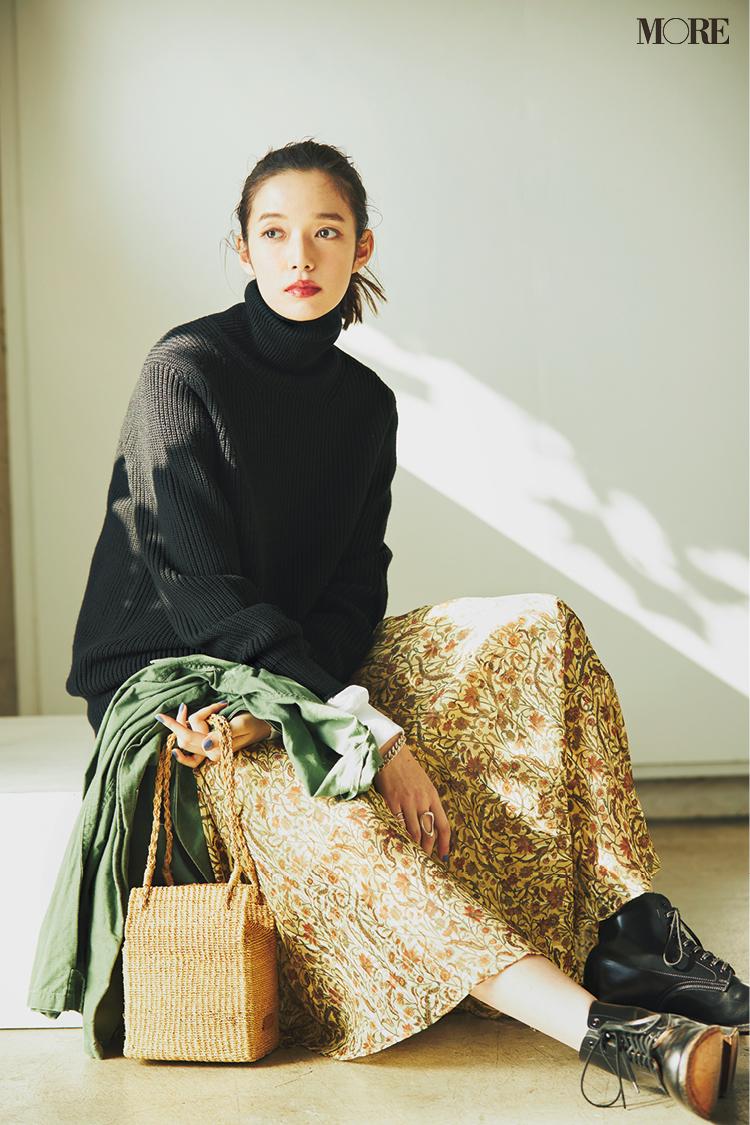 【今日のコーデ】ヴィンテージライクなスカートでフレンチシックコーデの佐藤栞里